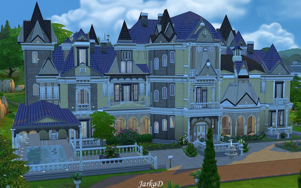 Mansion floressa jarkad sims 4 blog for Classic house sims 4