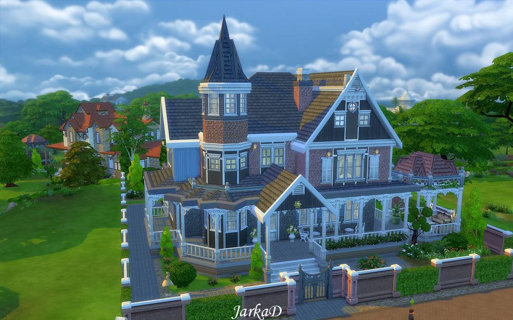 Victorian house no 1 jarkad sims 4 blog for Classic house sims 4