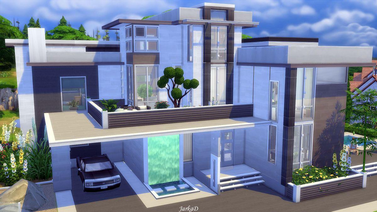Villa josette jarkad sims 4 blog for Simple modern house sims 4